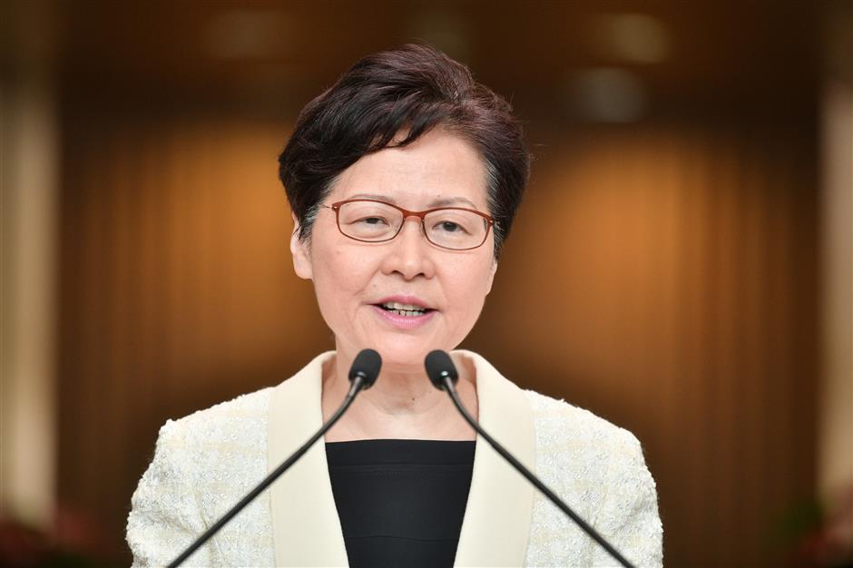Resignation to central gov't never tendered, stopping violence primary goal: HKSAR chief executive