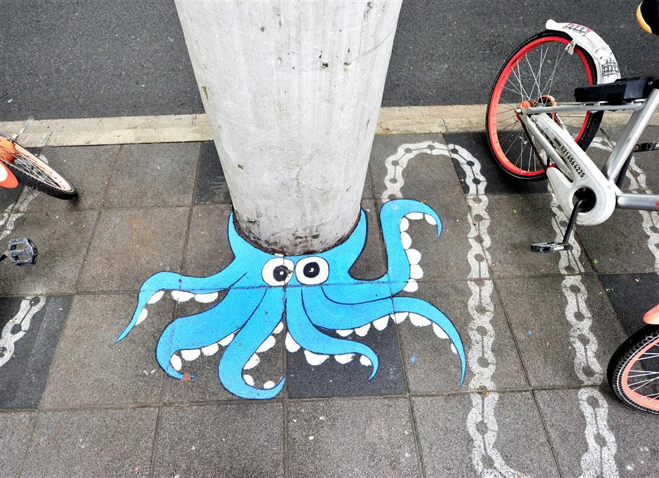 Graffiti adds fun to historical road