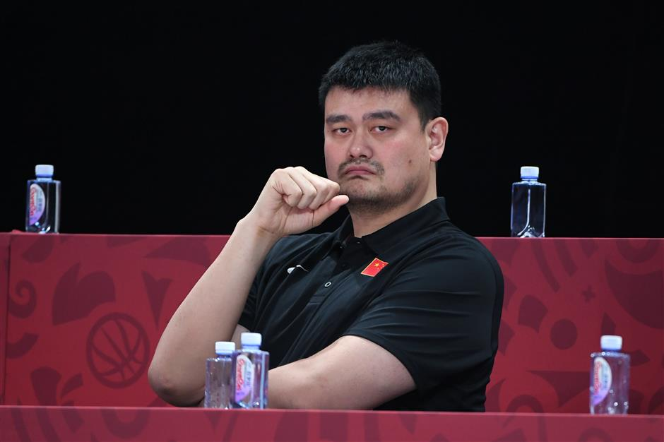 Yao accepts blame for China's World Cup, Olympic setbacks
