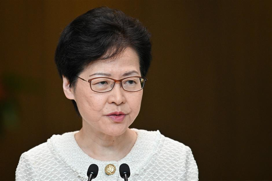 Carrie Lam hits back foreign interference in Hong Kong affairs