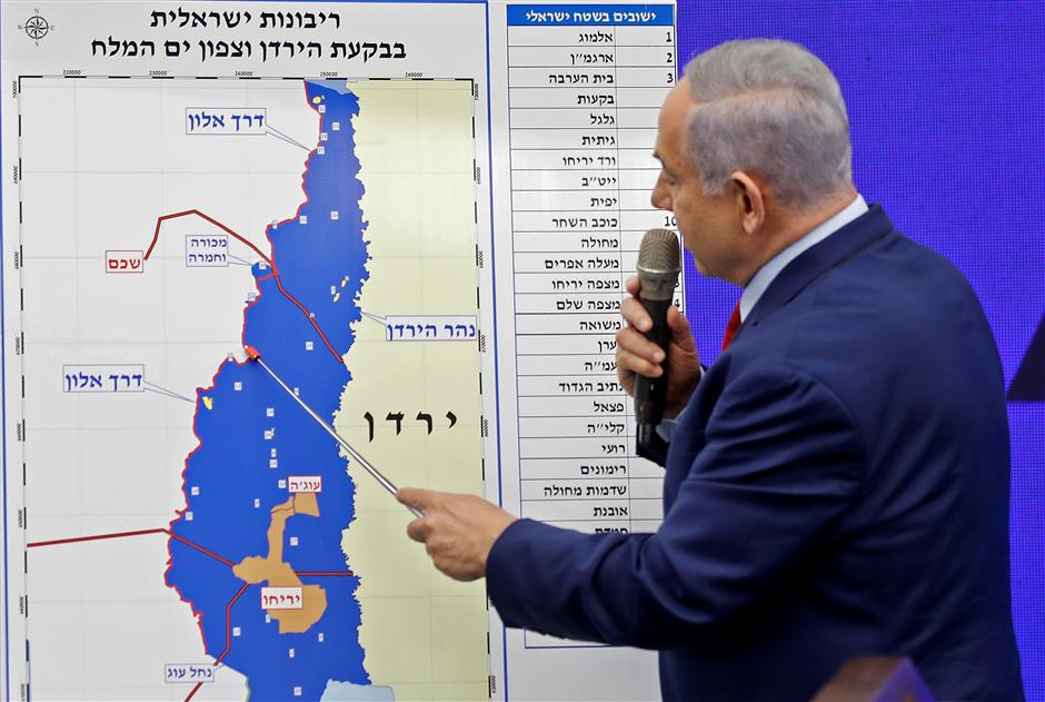 Israeli PM vows to annex occupied Jordan Valley if re-elected