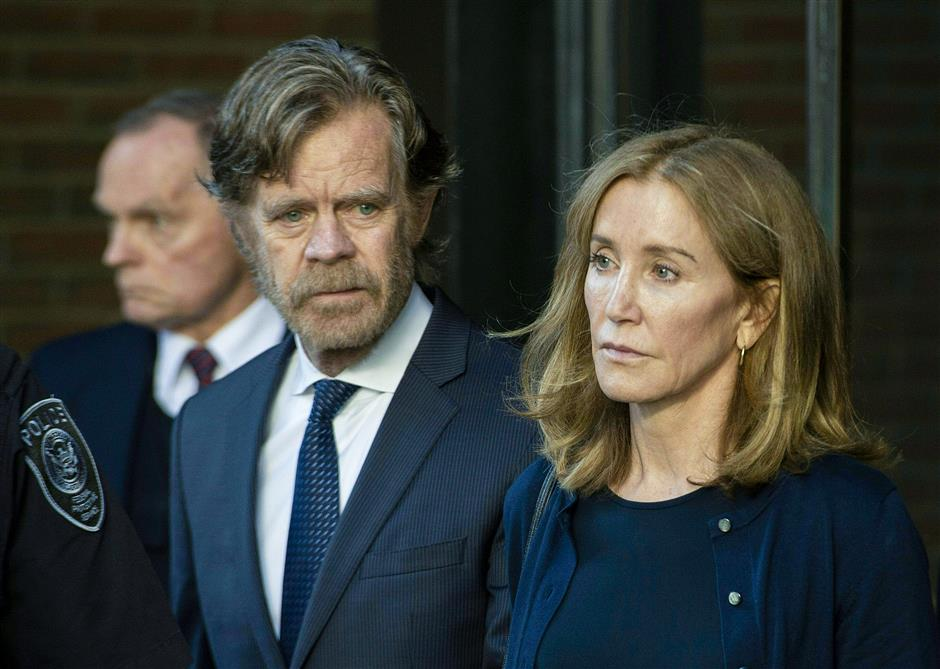 US actress sentenced to prison time for college admissions scandal