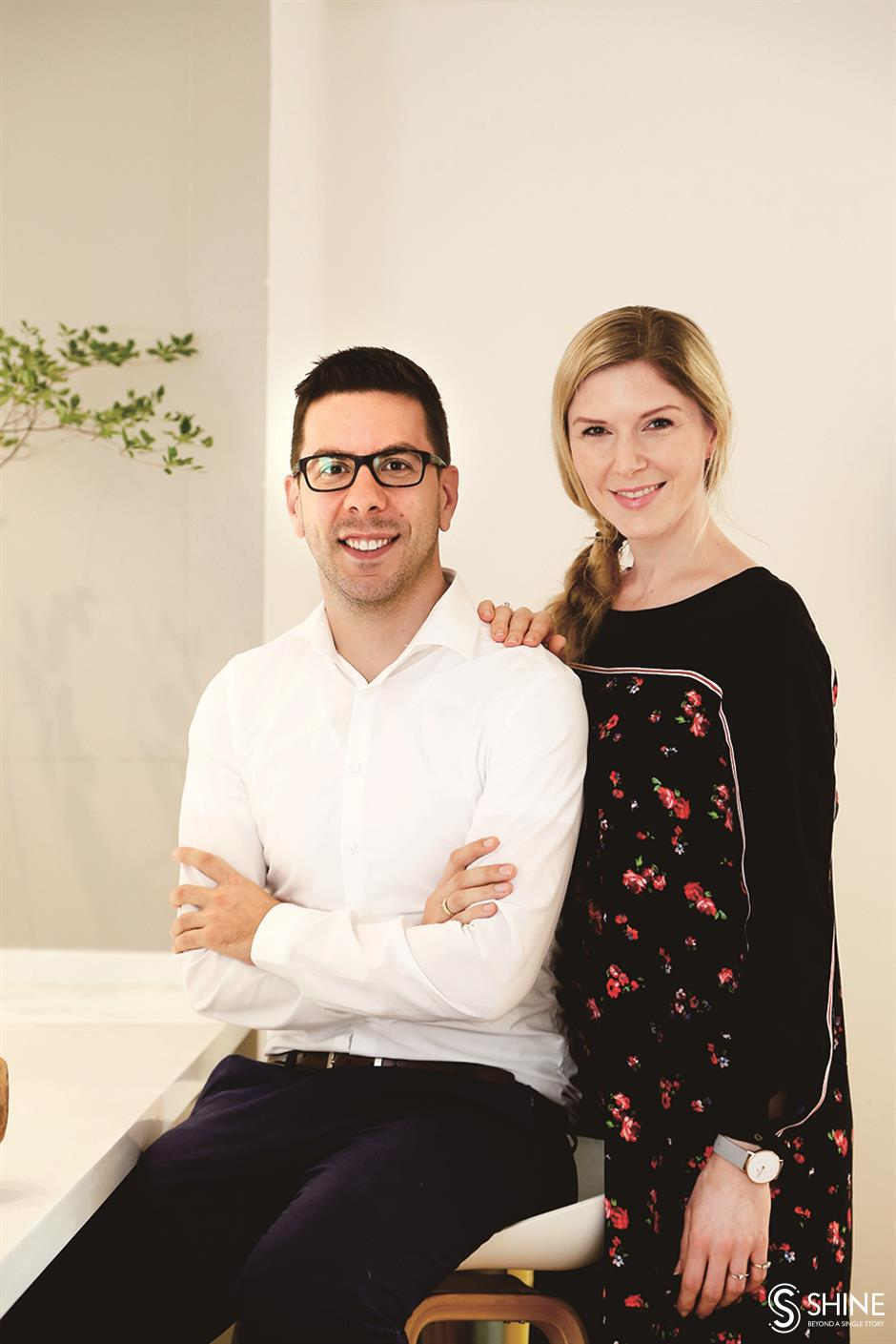Couple create unique personal space in rented unit