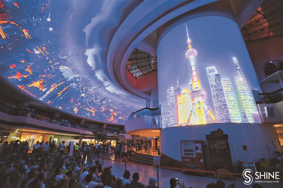 Shanghai brightens up its nights
