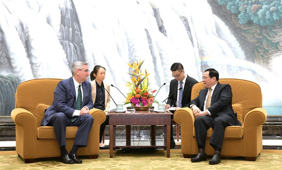 Party Secretary Li meets Indiana governor