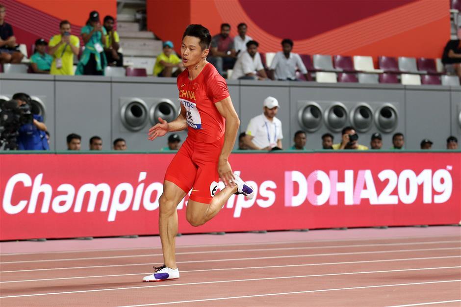 Chinese sprinter Xie sets history at Doha world championships
