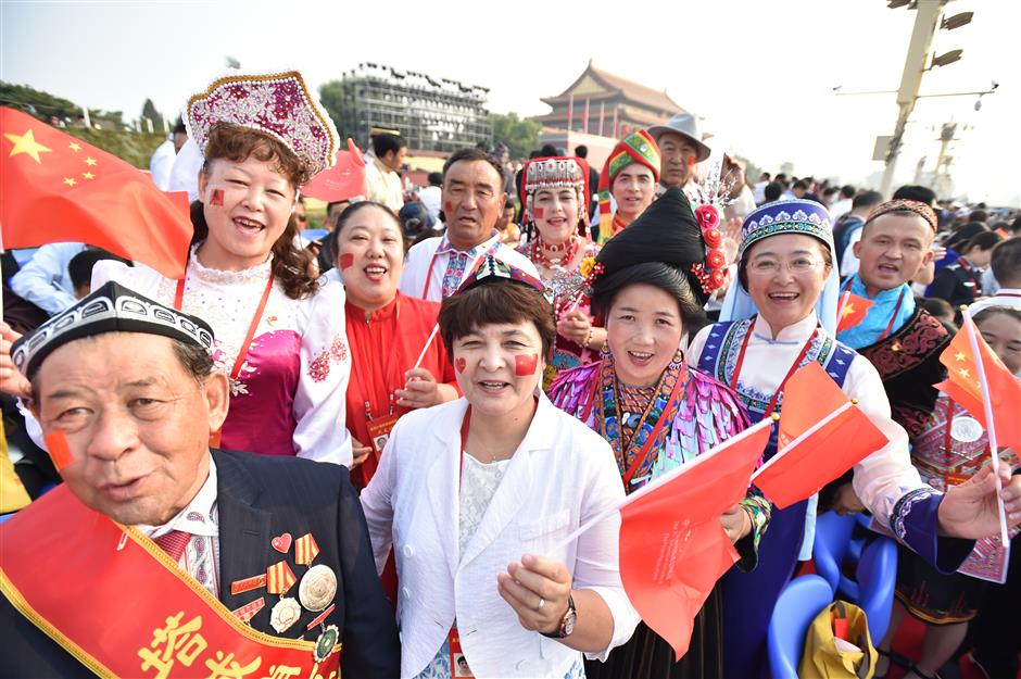 Over 100,000 participants gather in Beijing for National Day parade, pageantry