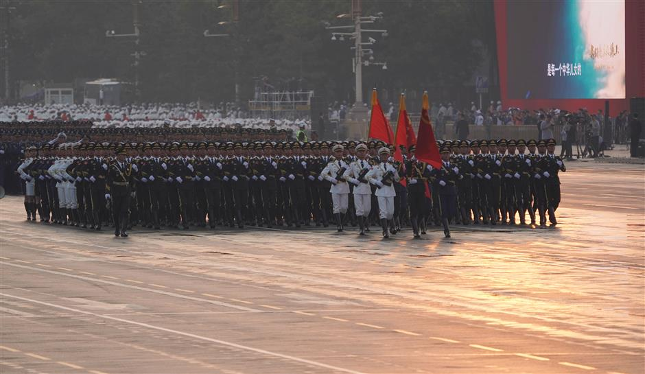PLA aircraft ready for National Day parade