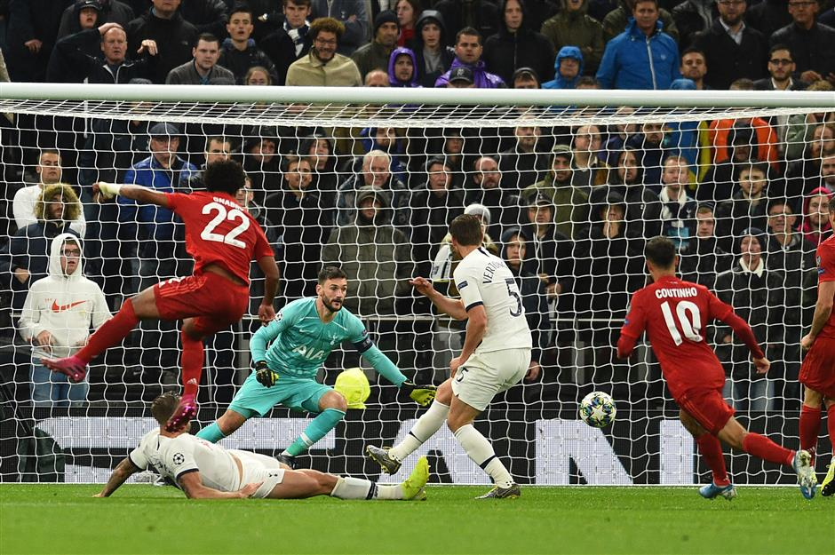 Tottenham loses 7-2 to Bayern; Real Madrid salvages CL draw