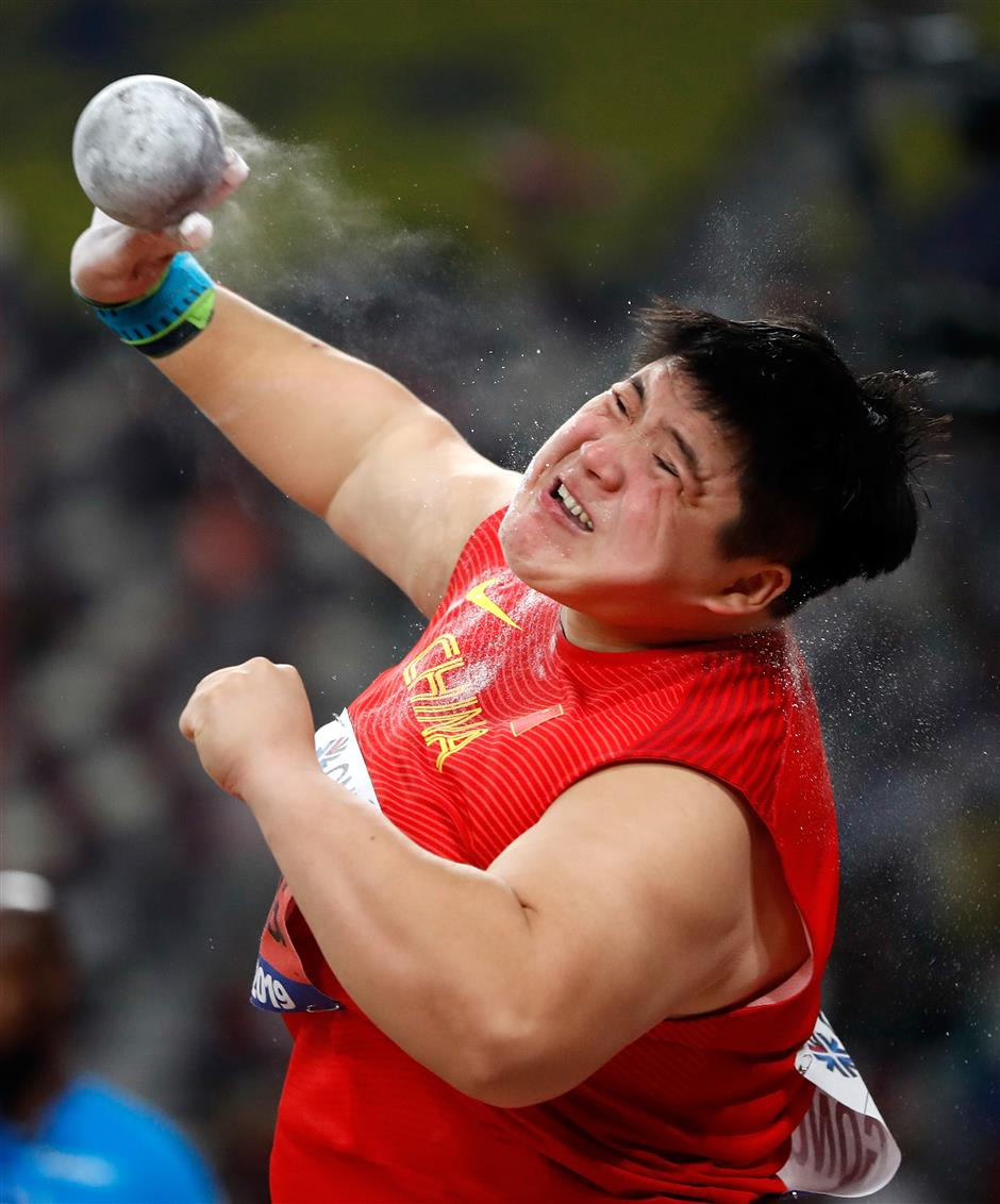 Gong retains shot put title in Doha