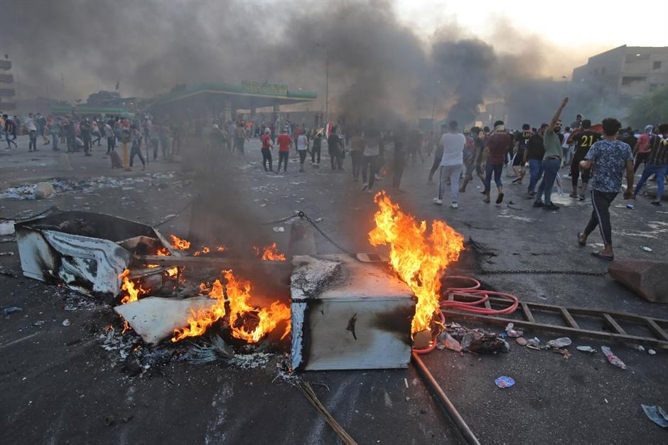 Death toll rises to 38 in Iraq's violent protests
