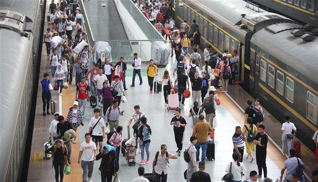 Rail travel to peak at end of holiday