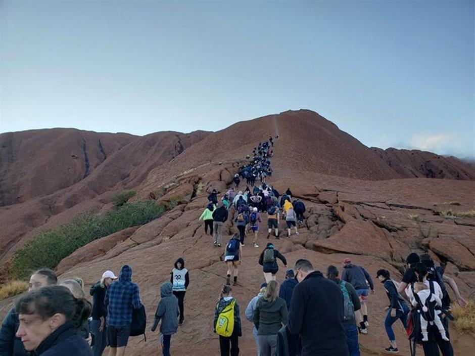 Rush to climb Uluru before ban kicks in