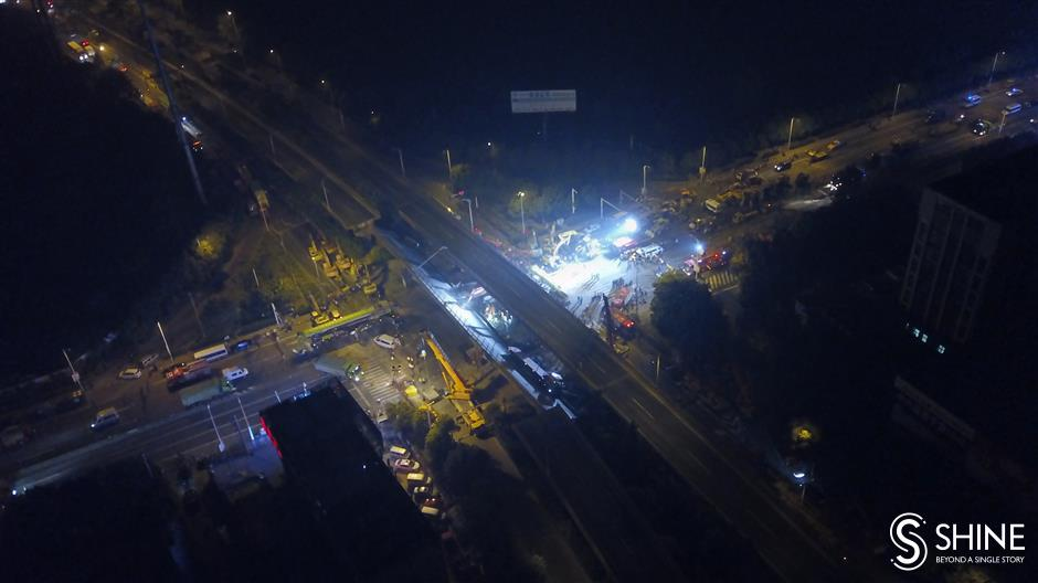 3 killed, 2 injured as elevated road collapses in Wuxi