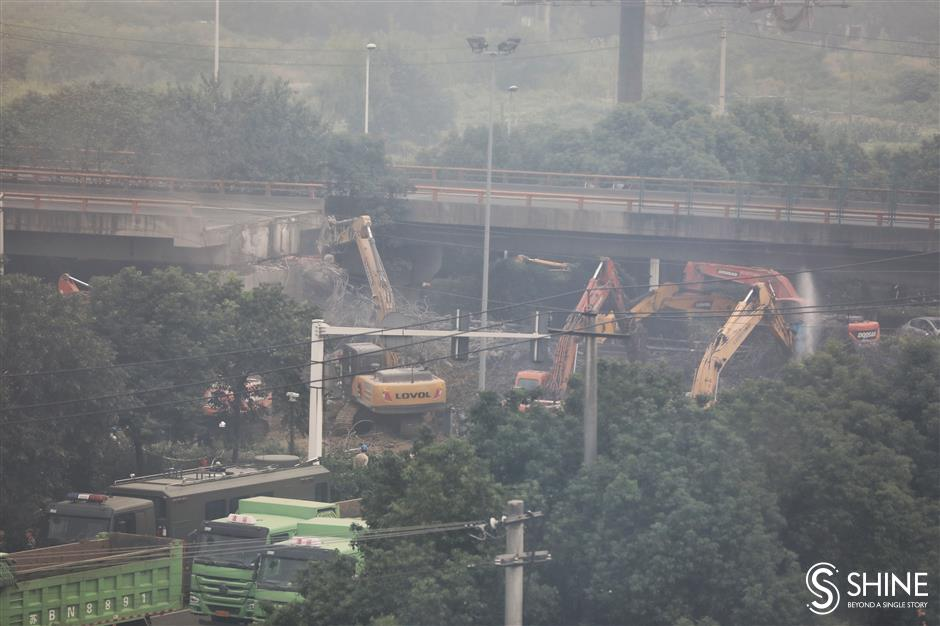 Rescue operations conclude at collapsed overpass