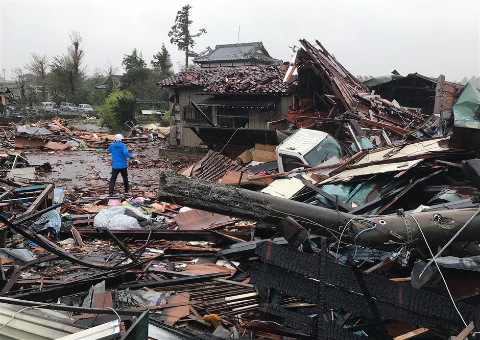 2 dead, 70 injured as Typhoon Hagibis makes landfall on Japan's Izu Peninsula