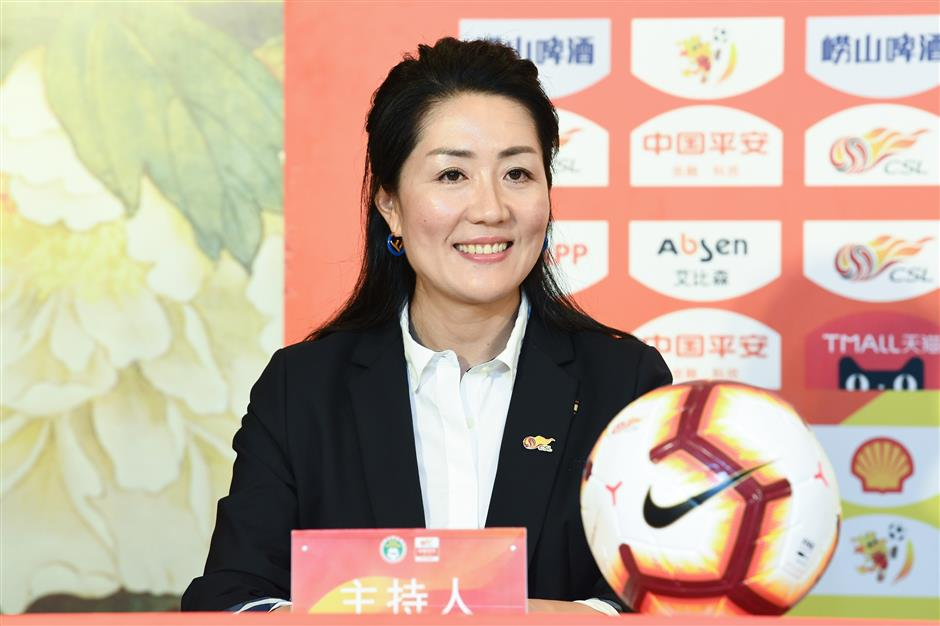 The former football pro passing her skills to Shanghai's youth