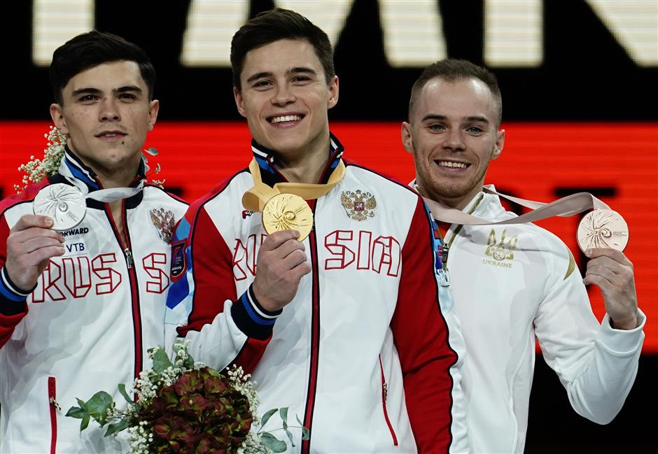 Nagornyy wins men's gymnastics all-round, China's Xiao misses medal