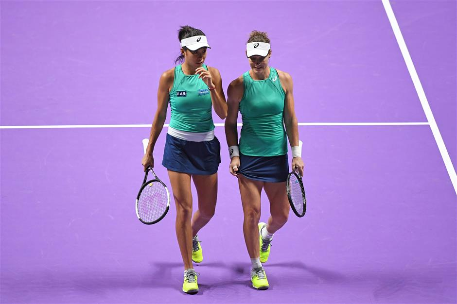 Zhang/Stosur crash out in semis of WTA Finals Shenzhen