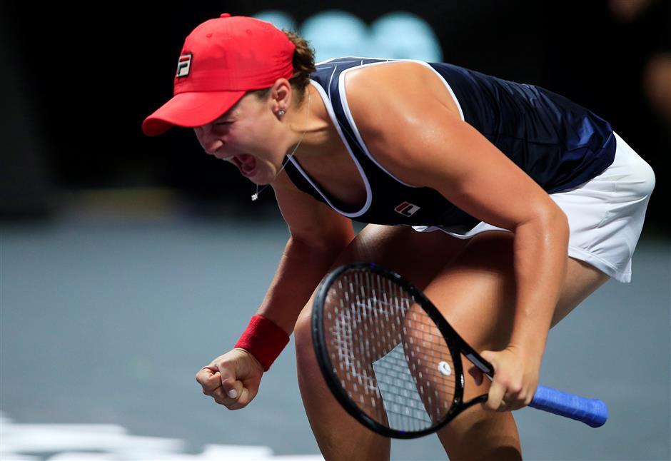 Australian Barty wins WTA Finals in Shenzhen