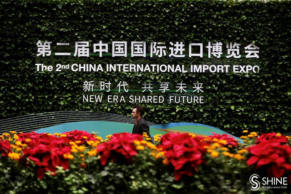 1st day of import expo through Shanghai Daily lenses