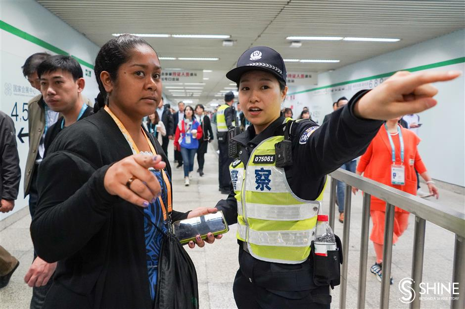 Multilingual police ready to help CIIE visitors
