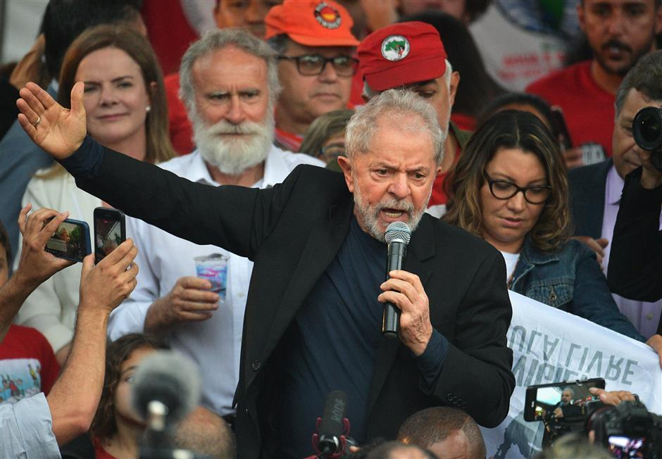 Brazil's ex-president Lula released from prison