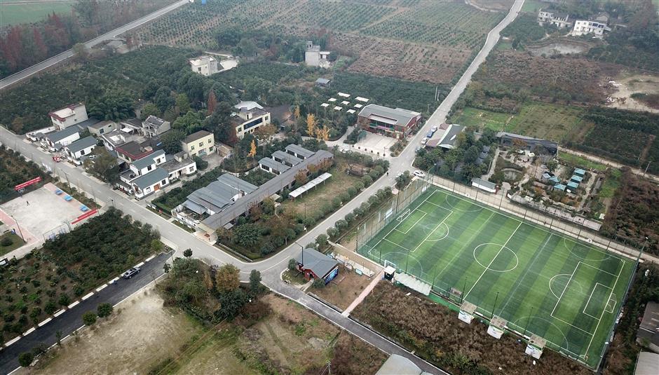Chendgu 'soccer village' changing lives