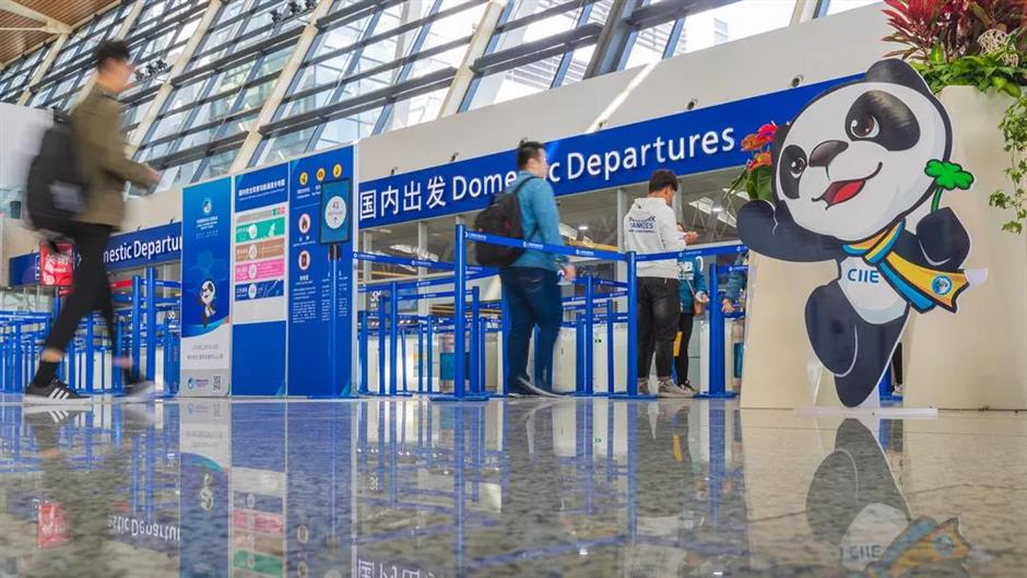 City airports wrap up busy period for CIIE