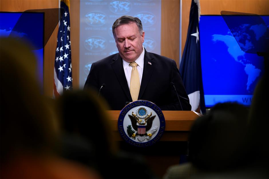 Pompeo says US no longer considers Israel's West Bank settlements against int'l law