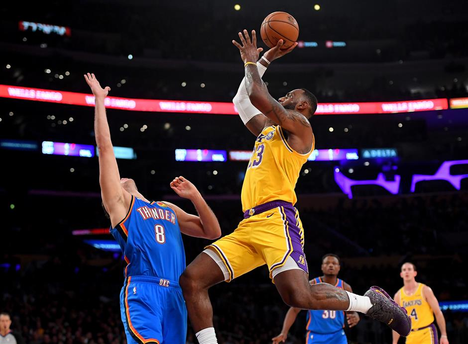 Triple-double history for LeBron as Lakers rattle Thunder