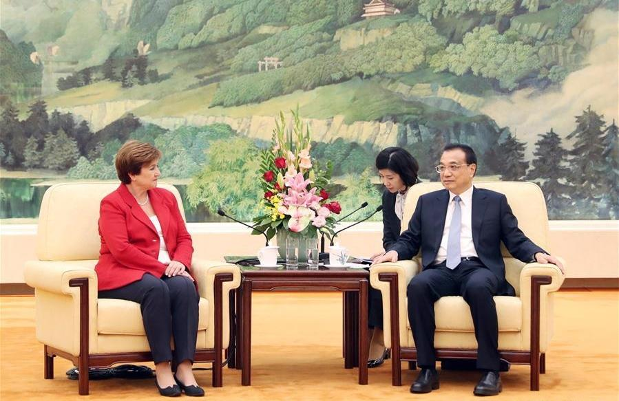 Chinese Premier meets IMF chief