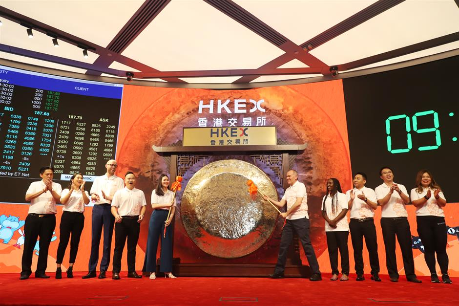 Alibabastrikes gong in Hong Kong