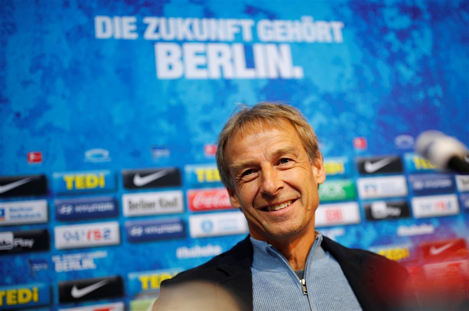 Is Klinsmann Hertha's ticket to football's top class?