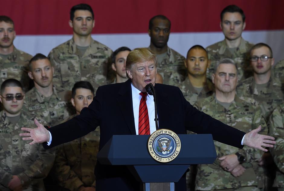 Trump makes surprise visit to Afghanistan, meets Afghan president