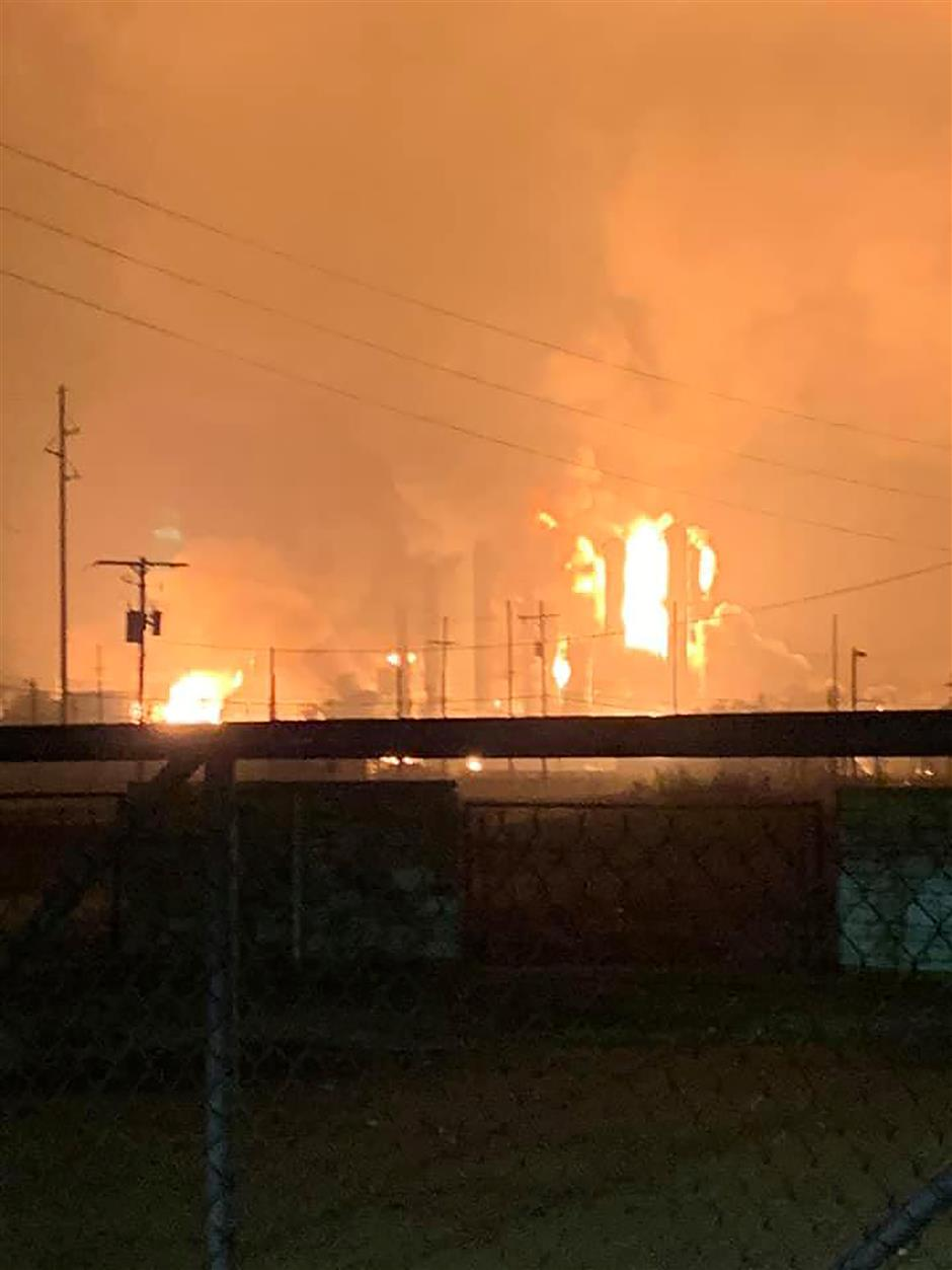 US Texas chemical plant fire contained, evacuation order lifted