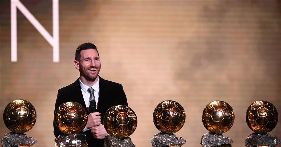Messi wins sixth Ballon d'Or as Rapinoe takes women's prize