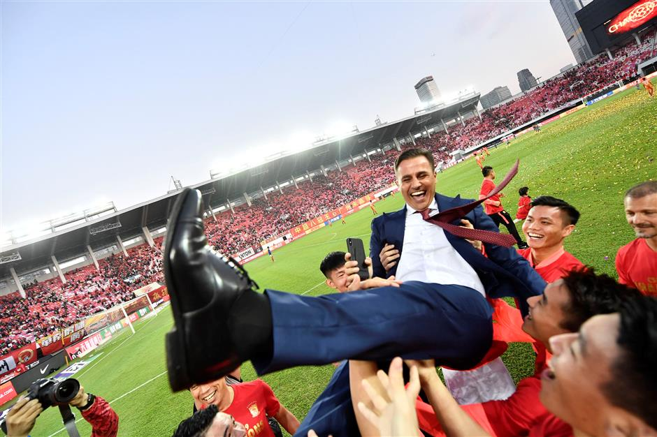 Cannavaro expects to stay at Guangzhou after 'miracle' title