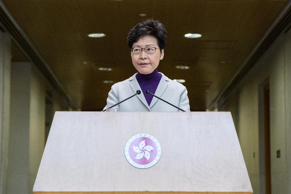 US act on Hong Kong 'completely unnecessary, unjustifiable': HKSAR chief executive