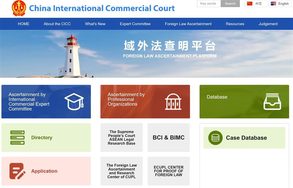 Online platform for foreign legal cases