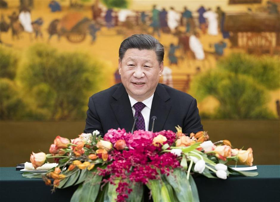 Xi meets foreign attendees to Imperial Springs Int'l Forum, calls for upholding multilateralism