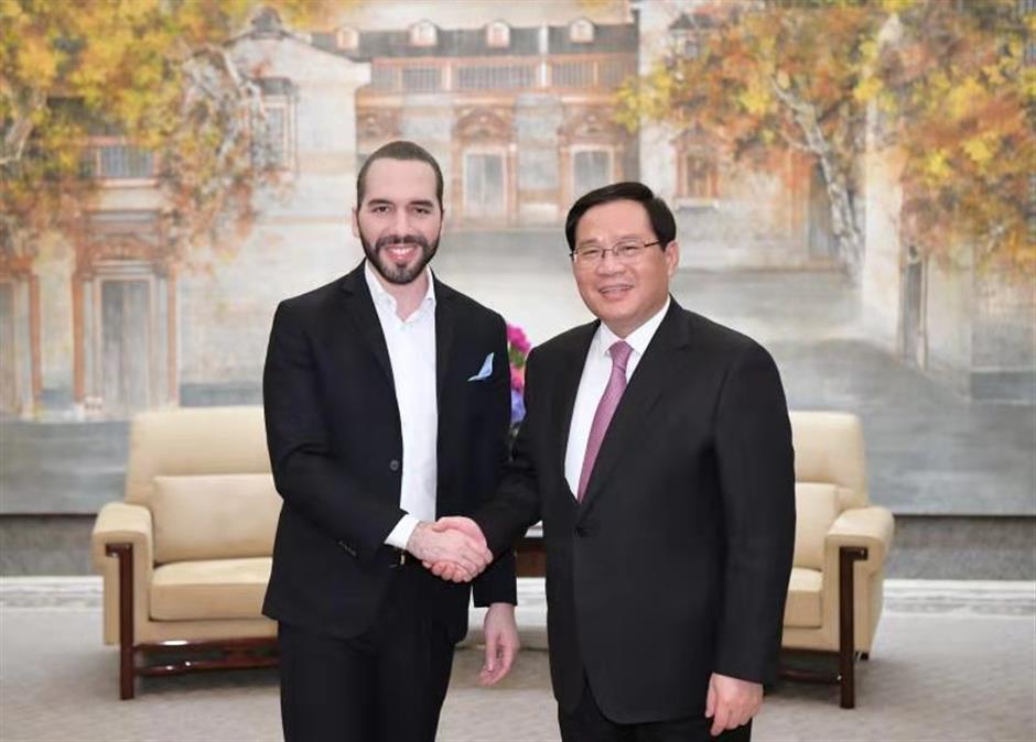 Party Secretary Li meets El Salvador president