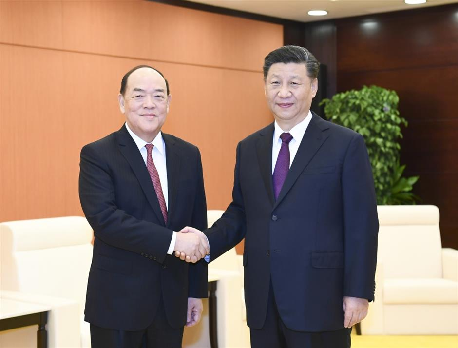 Central gov't fully supports Macau chief executive's work: Xi