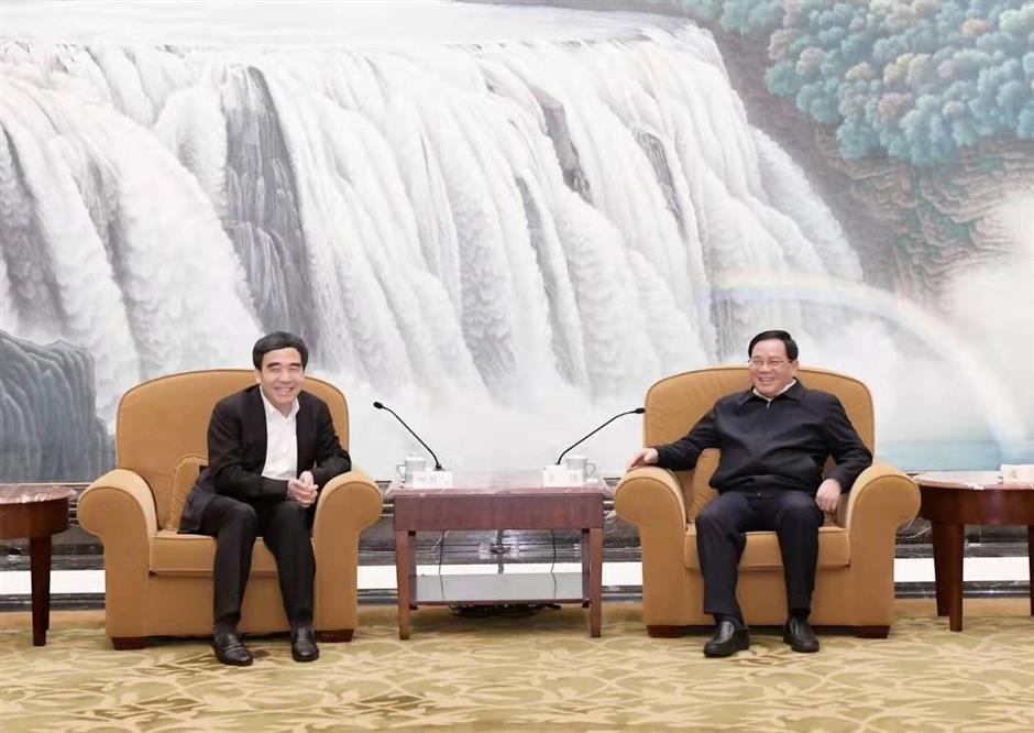 Top Shanghai leaders meet CCB chief