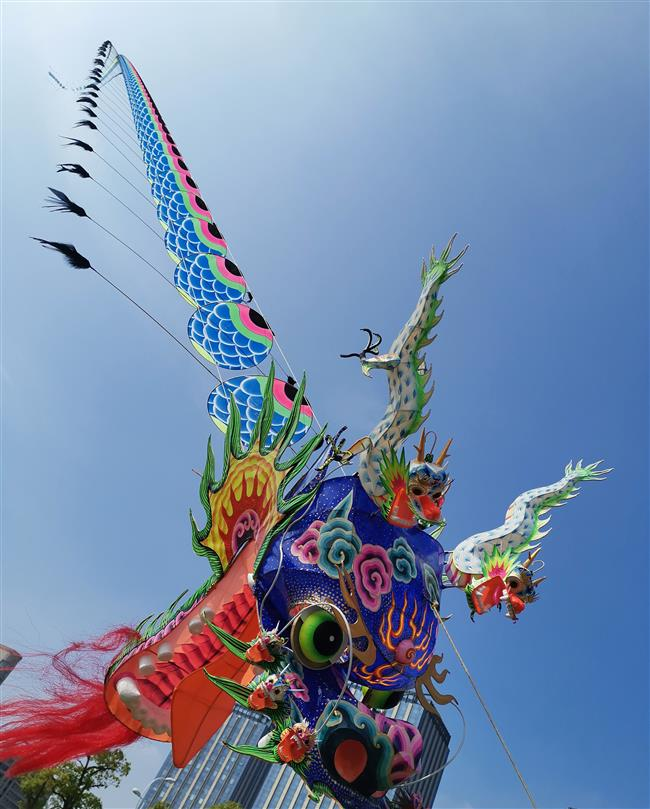 Dragons fly at competition for kite runners
