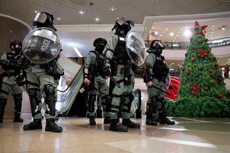 HK govt condemns violence, vandalism