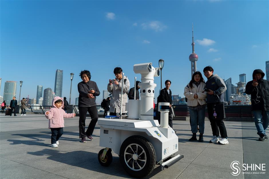 Police robot on New Year's patrol