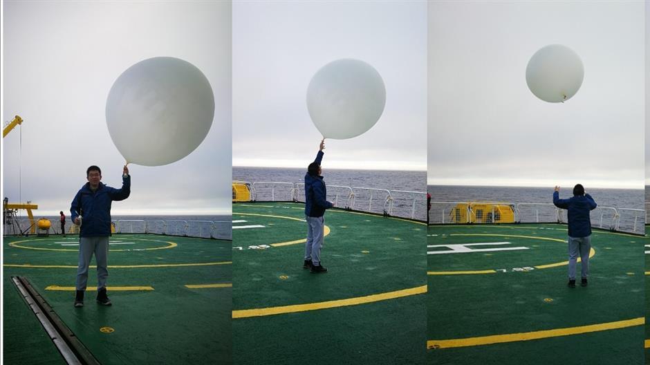 Fudan researcher gathers valuable Arctic weather data