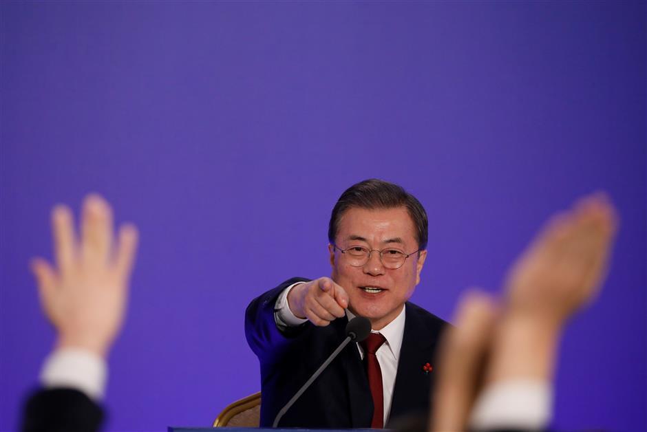 Inter-Korean cooperation to help DPRK-US talks, win support for sanctions relief: S. Korea's Moon