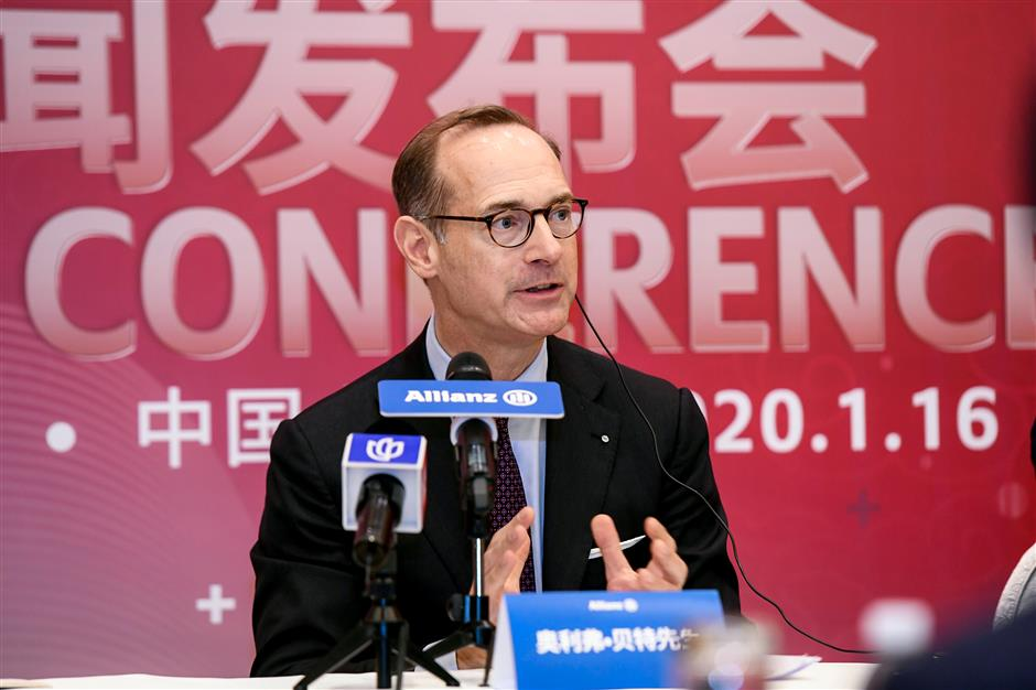 Foreign insurersets up base in Shanghai